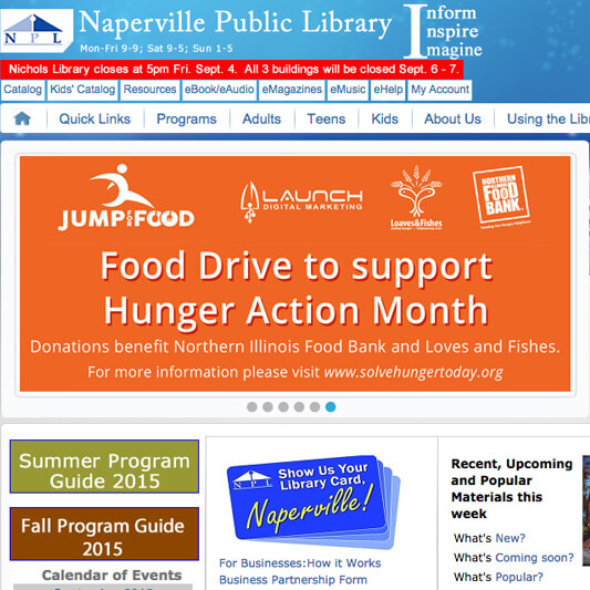 Naperville Public Library Developers, Drupal Developers
